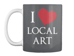 I Heart Local Art Mug