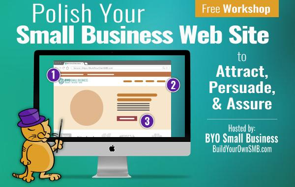 Free Workshop April 9 - Polish your small business website