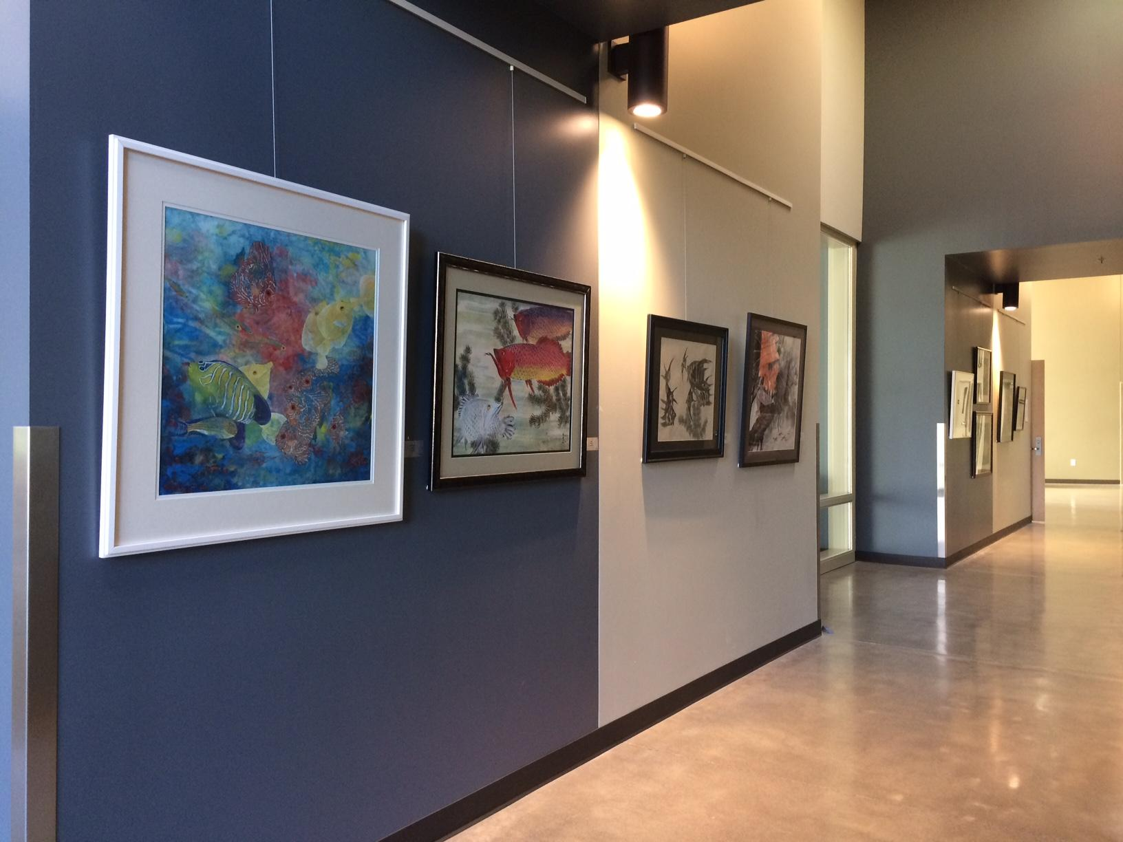 Community Center Gallery with works by Amy Sie